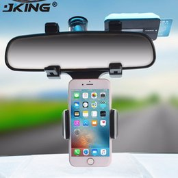 $enCountryForm.capitalKeyWord Australia - JKING Universal Car Phone Holder Mount Bracket Stand 360 Degree Rotation Rearview Mirror For Smart Mobile Cellphone Safe