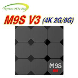 Media Player Australia - M9S V3 Android 6.0 TV Box RAM 2GB ROM 8GB Rockchip RK3229 Quad Core Support IPTV Smart Media player Better x96 S905W Mini MXQ Pro