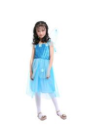 bab20352af301 costume de fée cosplay pour les filles la princesse robe bleue costume  cosplay déguisement l pour Halloween fête enfant vêtements