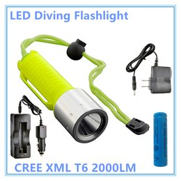 Scuba dive flaShlight online shopping - RU LED Diving Flashlight CREE XML T6 LM Lantern Lamp Rechargeable Linternas by Underwater Diving Scuba Flashlights