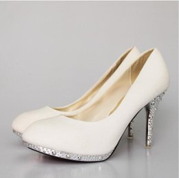 red evening shoes 2019 - 2018 Women's Wedding Shoes Woman Bridal Evening Party Red High Heels Shoes Sexy Women Pumps Glitter White Bridal Sh