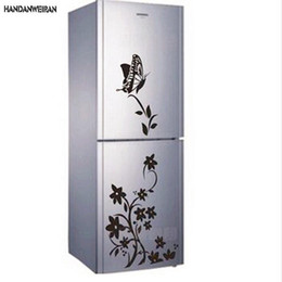 $enCountryForm.capitalKeyWord Australia - 2018 Hot butterflies for decoration flower vine refrigerator stickers paper generation carving can be removed Wall sticker