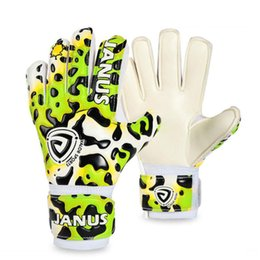 China Professional Children Goalkeeper Gloves With Finger Protection Thickened Latex Leopard Print Soccer Goalie Gloves Football Free Shipping cheap leopard shipping suppliers