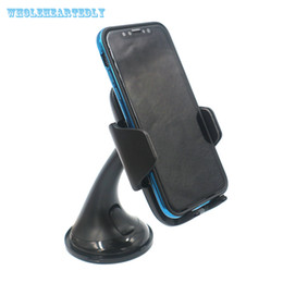 Wholesale Car Wireless Charger Vehicle Dock Car Phone Holder Sucker Mount Bracket Stand For iPhone X Samsung Galaxy S7 S8 Plus Edge S6
