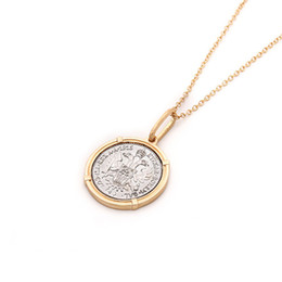 Horn color necklace online shopping - Vintage Gold Silver Color Coin Necklace Female Layered Disc Round Women Necklace Personality Simple Geometric Long Chain Bohemia
