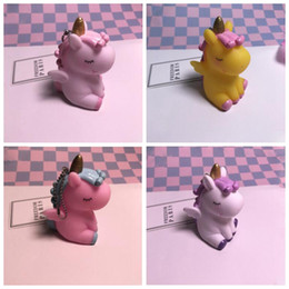Small cartoon couple online shopping - 4 colors New Unicorn Can Pinch BB Called Girl Heart Small Gift Bag Pendant Couple Cartoon Charm Pendant Gift for Women Keyrings Ketchains