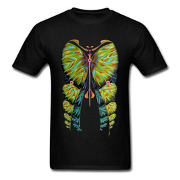 dbfc60f4 Art Design T-Shirts Fibonacci Butterfly Illustration Image Summer Autumn  100% Cotton Men Cheaper Tops T Shirt On Sale