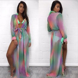Wholesale Summer Flower Floral Print Sexy Women Bikini Cover Up Maxi Dress Chiffon Beach Dress Split Women Swimwear Swimsuit Cover Up Beachwear