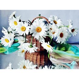 $enCountryForm.capitalKeyWord Australia - Drop shipping chrysanthemum diamond painting floral diamond kits full cross stitch home decor Wall Art Painting gift free shipping