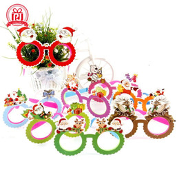EyEglassEs for party online shopping - New Santa Claus Glasses Plastic Spectacles For Christmas Decorations Party Fancy Dress Costume Eyeglass Gift Novelty pj CB