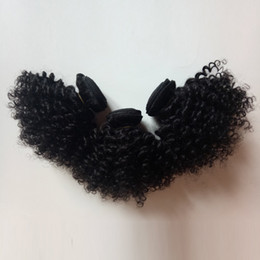 Natural curly weave styles online shopping - Supply Beautiful Afro hair Natural black B Kinky curly inch Short style g pc pc Brazilian Indian Peruvian Hair Weave In stock