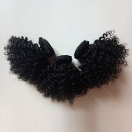 $enCountryForm.capitalKeyWord Australia - Supply Beautiful Afro hair Natural black 1B# Kinky curly 6-12inch Short style 100g pc 3pc lot Brazilian Indian Peruvian Hair Weave In stock