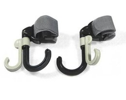 Discount pram strollers - Hot 120sets 2 pcs set Baby Stroller Hook Holder Pram Double Rotate Hook Pushchair Hanger