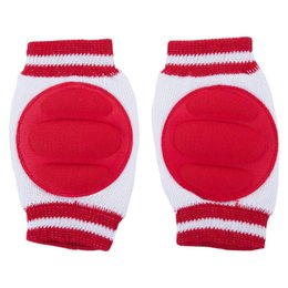 toddler crawling knee pads 2019 - Kids Baby Knee Pads Toddler Elbow Protective Pads Crawling Safety Protector (Red) cheap toddler crawling knee pads