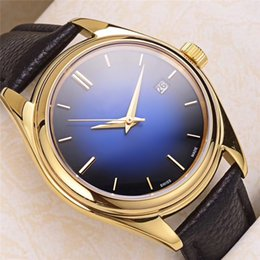 Stainless Steel Unisex Luxury Watches Australia - Men's Watches Stainless Steel Gold Case Leather Band Waterproof 41mm Male WristJapan Mechanical Automatic Movement Luxury Brandwatches O84