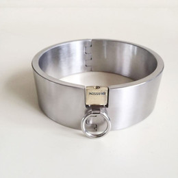 $enCountryForm.capitalKeyWord NZ - Exquisite 6CM High Top Stainless Steel Neck Ring Posture Collar Necklet With Lock Restraint Bondage Adult Bdsm Sex Toy For Male Female