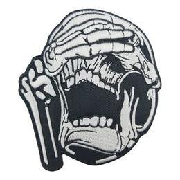$enCountryForm.capitalKeyWord UK - See No Evil Skull Iron on Patch Motorcycle Biker Club MC Back Jacket Vest Embroiderd Patch