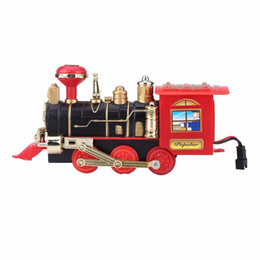 China 2018 Hot Sale RC Train Model Toys Remote Control Conveyance Train Electric Steam Smoke RC Train Sets Model Toy Gift For Children supplier pink toy train suppliers