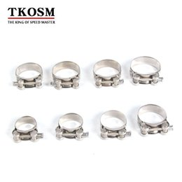 China TKOSM Universal 17-139mm Motorcycle Exhaust Accessories Clamp Clip For Slip-on Type Motorcycle Muffler Silencer Stainless Steel cheap stainless steel silencers suppliers