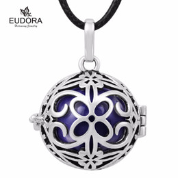 $enCountryForm.capitalKeyWord Australia - Vintage Silver Chinese Flower Cage Angel Caller 18 mm Pregnant Ball Mexican Bola Charms Pendants For Pregnancy