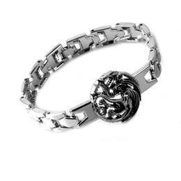 House Plates Australia - Hot Game of Thrones House Targaryen Bracelet Alloy Silver Plated Dragon Bracelets & Bangles Jewelry For Unisex Gift