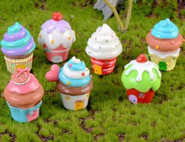 crafts for house decorations NZ - 10pcs Resin Cake House Miniatures Landscape Accessories For Home Garden Cake Decoration Scrapbooking Craft Diy