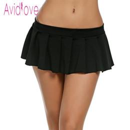 901e8a777c6d4 Avidlove Mujeres Mini Faldas Atractivas Casual Colegiala Ropa de Dormir  Micro Falda Sexy Summer Faldas Cortas Negro Blanco Rosa Azul Tallas grandes  S916