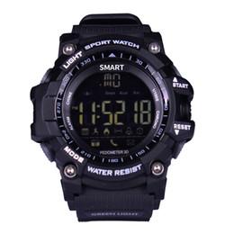 China Sport EX16 smart watch buzzer sound alarm sport monitor IP67 waterproof burned calory men watch remote camera watches suppliers