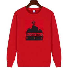 biggie smalls sweatshirt UK - The Notorious B.I.G Biggie Smalls round neck hoodie rock hip hop fleece sweatshirt Christopher G. L. Wallace outerwear
