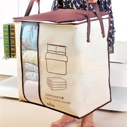 $enCountryForm.capitalKeyWord NZ - Non-Woven Receive Clothes Quilt Bag Large Finishing Dust In The Luggage Organizer Storage Bag Vacuum Clothes Bags Wardrobe