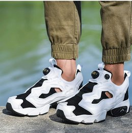 16fefda9f1df Classic Black And White Panda 3M Reflective Insta Pump Fury OG Mens Version  Boots Top Womens Running Shoes Sport Sneakers