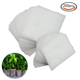 For Nursery Bags NZ - 200Pcs Non-woven Nursery Bags Plant Grow Bags For Plants Fabric Seedling Bags Biodegradable