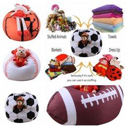 Foldable Storage Bags Reasonable 26-inch Football Shaped Storage Bag Stuffed Animal Bean Bag Kids Clothes Toy Organizer Baseball Basketball Clothes Storage Bag