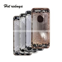 iphone rear chassis Australia - se Housing For iPhone 5 5SE Battery Cover Door Rear Chassis Frame Back Housing Cover body For iphone SE housing +IMEI