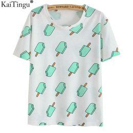 $enCountryForm.capitalKeyWord Canada - KaiTingu Brand 2018 New Fashion Vintage Summer Style Harajuku T Shirt Women Clothes Tops Emoji Funny Tee Shirts Ice Cream Print