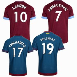 35ef856f1df8 18 19 West Ham United Soccer jerseys 2018 2019 NOBLE ARNAUTOVIC CARROLL  SAKHO CHICHARITO WILSHERE LANZINI home away football shirts S-2XL