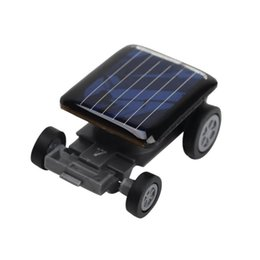 Small Child Toy Car UK - Wholesale- New Smallest Mini Car Solar Power Toy Car Racer Educational Gadget Children Kid's Toys new