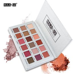 glitter sets for eyes UK - Original MAANGE 18 Colors Eyeshadow Palette Peary-lustre Matte Earth Color Glitter Matallic Waterproof Long-lasting Pro Makeup Set For Eyes
