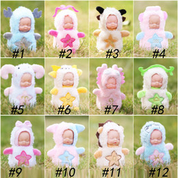 Baby Figures Australia - Sleeping baby keychain sleeping cute doll accessories factory funko pop wholesale cute surprise doll cartoon cute action figures kid toys