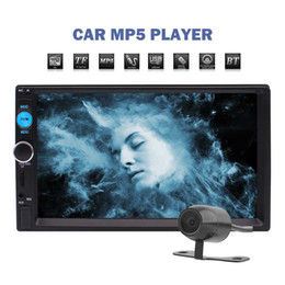 car mp5 audio player NZ - 7'' Touch Screen Car Stereo MP5 Player Double Din Head Unit FM Radio Bluetooth Hands-free AUX In Audio Video Playback IR Remote Control