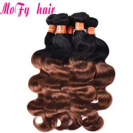 1b Hair Color Weaves Australia - Peruvian Hair Color 1B 30 Body Wave Bundles Brazilian Indian Malaysian Ombre Hair weave Bundles 2 Tone Remy Hair Extension