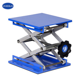 lab jack Canada - ZOIBKD High Quality 150*150mm Scientific Lab Jack Stainless Steel Lab Lifting Platform Stand Rack Scissor Lab-Lift Lifter