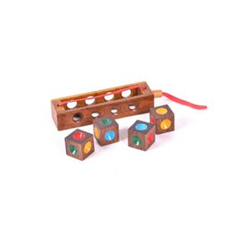 Chinese  Kong Ming Lock Luban Ball High Degree Of Difficulty Adult Wooden Puzzle Toys Interest Decompression Toy Hand Made 6hr manufacturers