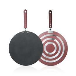Frying Tools NZ - Kitchen Pancake Non -Stick Frying Pan Kitchen Tools Flat Pan Griddle Pan With Spreader And Spatula Crepe Maker Griddle