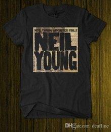Легенда Нил Янг архивы Vol.1 канадская певица черная футболка SML Xl 2XL новинка Tee Бесплатная доставка на Распродаже