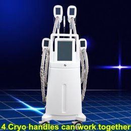 Remove cellulite machine online shopping - 4 cryo handles cryolipolisis safety fat freezing cold body sculpting machine cellulite fat remove cryotherapy device slimming vacuum machine