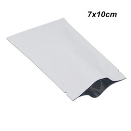 Matte tea online shopping - 200 Pieces x10cm White Aluminum Foil Zip Lock Zipper Matte Packing Bags for Snack Spices Matte Mylar Foil Self Seal Packing Pouches for Tea