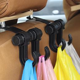 Discount car interior hooks - Auto Car Back Seat hook hanger car Headrest Hanger Holder Hooks Clips For Bag Purse Cloth Grocery Automobile Interior st