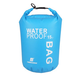 5eb9a9a37c69 15L Ultralight Swimming Bags Waterproof Dry Bag for Outdoor Camping Travel Swimming  Rafting Kayaking Storage Drifting Bag