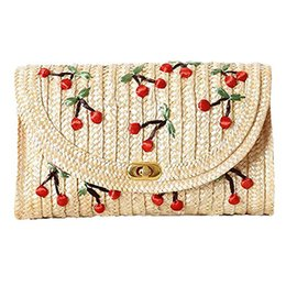 Chinese  Weave Embroidery Cherry Chain Women Messenger Bags Bohemian Style Mini Women's Messenger Bags- manufacturers